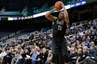 NCAA BASKETBALL:  FEB 15 Wofford at UNC Greensboro