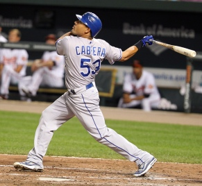 Kansas City Royals center fielder Melky Cabrera (53)