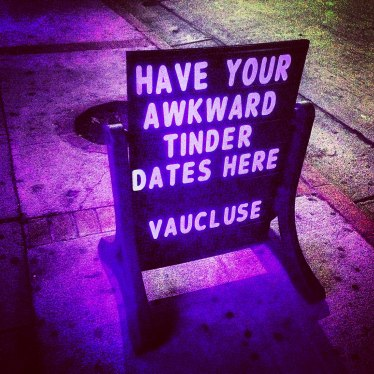 Opinions_Wilson_-Have your awkward Tinder dates here- sign at Vaucluse Lounge - Hollywood, CA_Chris Goldberg_flickr