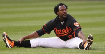 Baltimore Orioles designated hitter Vladimir Guerrero (27)