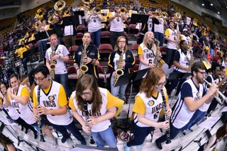 2.14.18_Features_Shira Snyder_pep band_SoCon marketing team.jpeg