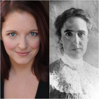A_E, 3_14, silent sky preview, annalee glatus, PC_ Bryanna Vinge next to Henrietta Leavitt, the person her character is based on. Photo courtesy of UNCG Theater Department_.png