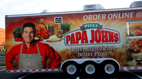 Parked at Papa John's world headquarters in Louisville, Kentucky